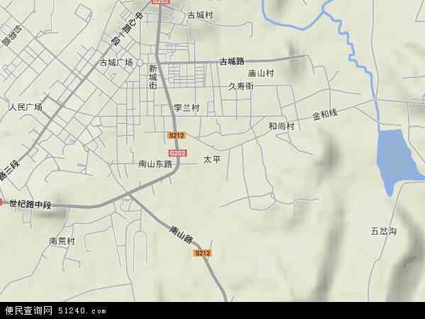 中国辽宁省大连市普兰店市太平地图(卫星地图)图片