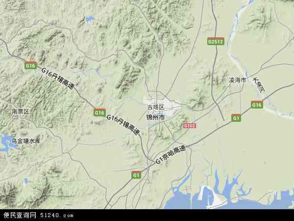 中国辽宁省锦州市太和区地图(卫星地图)