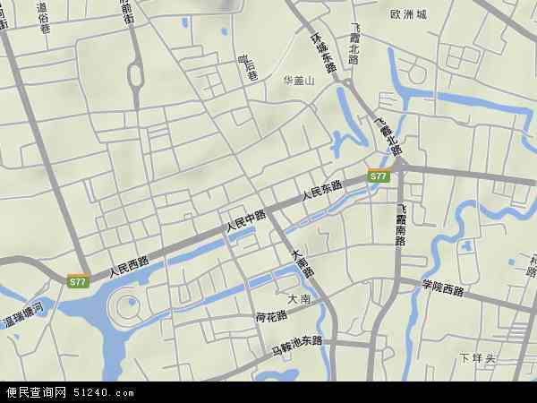 中国浙江省温州市鹿城区五马地图(卫星地图)