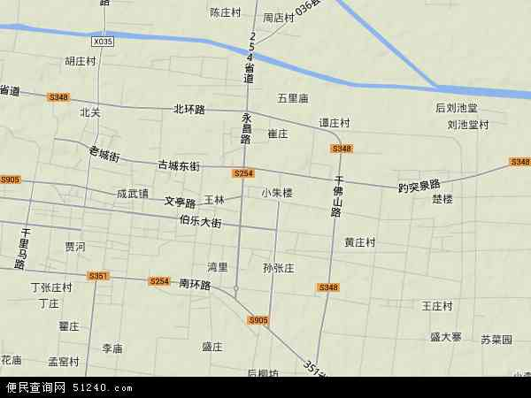 中国山东省菏泽市成武县文亭地图(卫星地图)