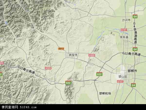 武安市地图 - 武安市卫星地图