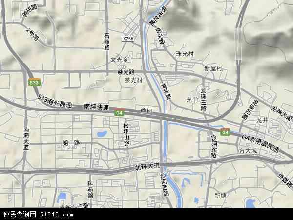 西丽地图 - 西丽卫星地图