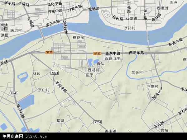 西湖村地形图 - 西湖村地形图高清版 - 2018年西湖村地形图
