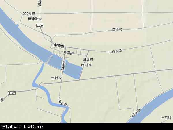 西湖地形图 - 西湖地形图高清版 - 2018年西湖地形图