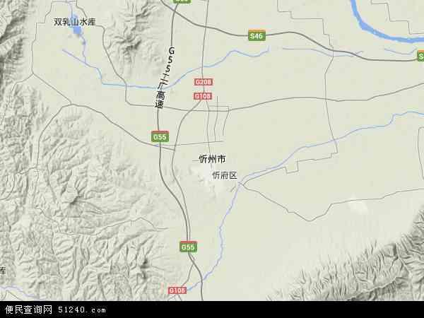 忻州市地图 - 忻州市卫星地图 - 忻州市高清航拍地图