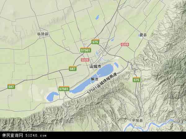 运城盐湖区地图高清版