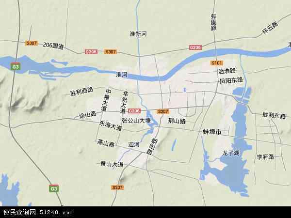 中国安徽省蚌埠市禹会区地图(卫星地图)