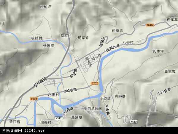 赵家地形地图