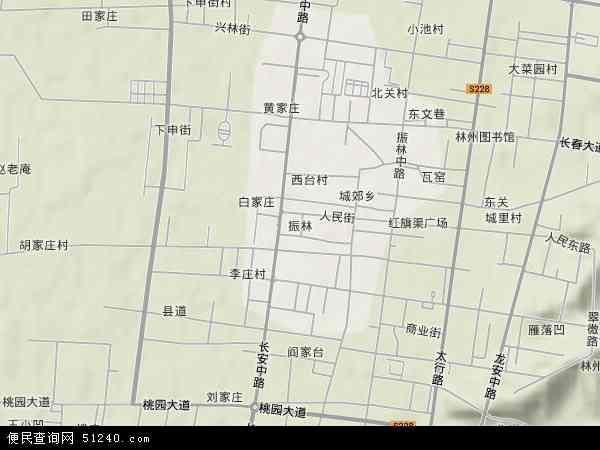 中国河南省安阳市林州市振林地图(卫星地图)