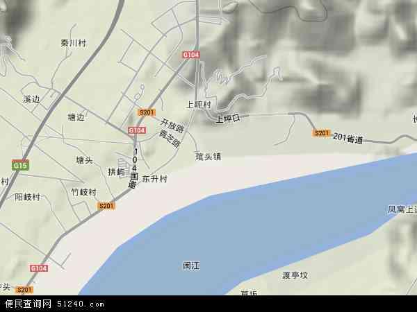 中国福建省福州市连江县琯头镇地图(卫星地图)