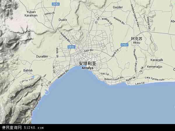 安塔利亚高清卫星航拍地图