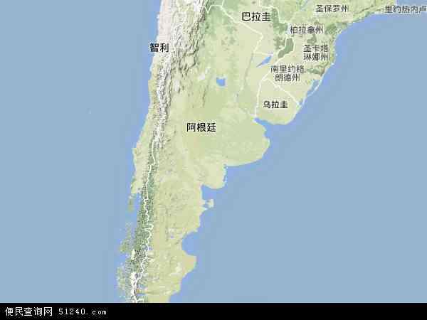 阿根廷地形图 阿根廷地形图 高清版