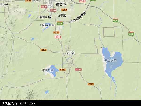 安丘市地图 - 安丘市卫星地图图片