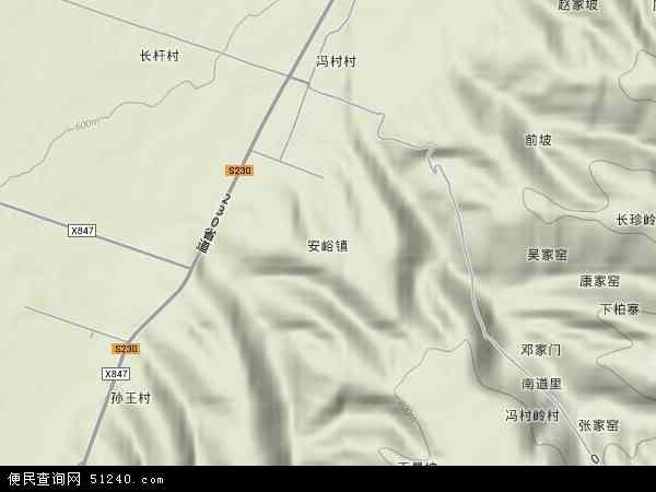 中国山西省运城市绛县安峪镇地图(卫星地图)