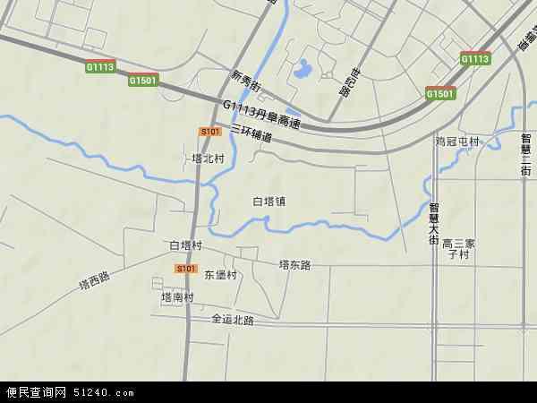 中国辽宁省沈阳市东陵区白塔地图(卫星地图)