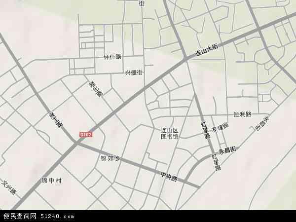 葫芦岛市区连山区地图展示