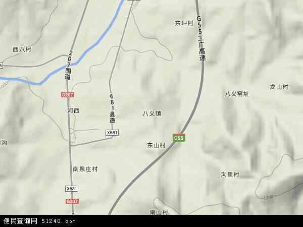 中国山西省长治市长治县八义镇地图(卫星地图)