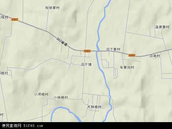 泊于镇2018年卫星地图 中国山东省威海市环翠区泊于镇地图
