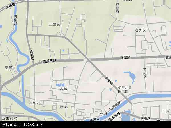 中国安徽省合肥市庐阳区亳州路地图(卫星地图)