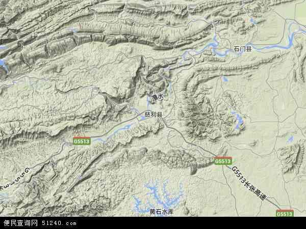 慈利县地图 - 慈利县卫星地图
