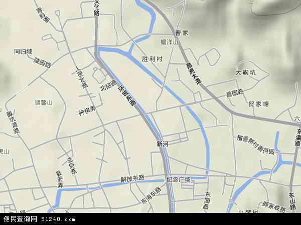中国浙江省舟山市定海区昌国地图(卫星地图)