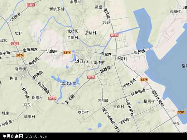赤坎区地形图 - 赤坎区地形图高清版 - 2016年赤坎区地形图