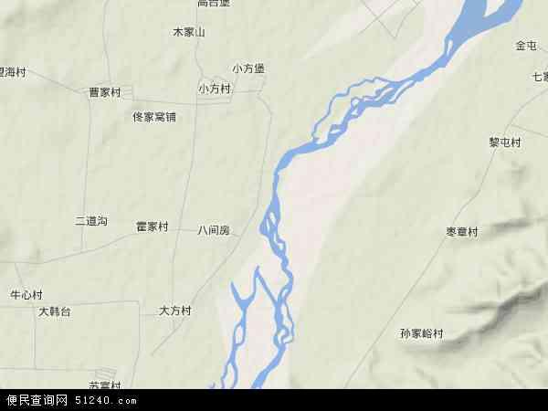 中国辽宁省锦州市凌海市大凌河地图(卫星地图)