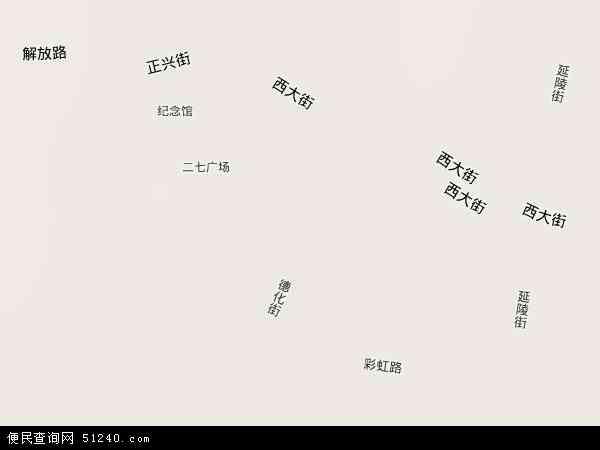 中国河南省郑州市二七区德化街地图(卫星地图)
