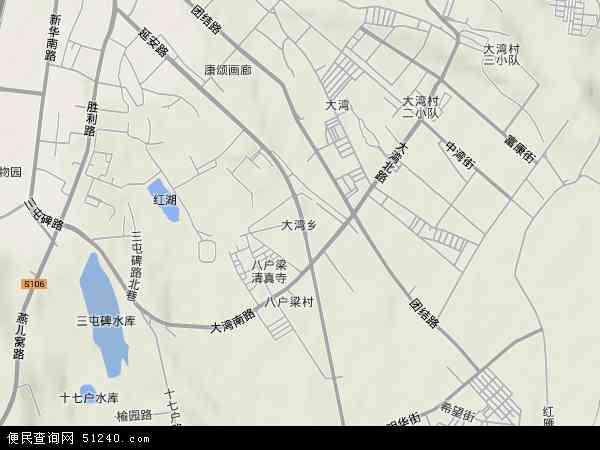 中国新疆维吾尔自治区乌鲁木齐市天山区大湾地图(卫星地图)