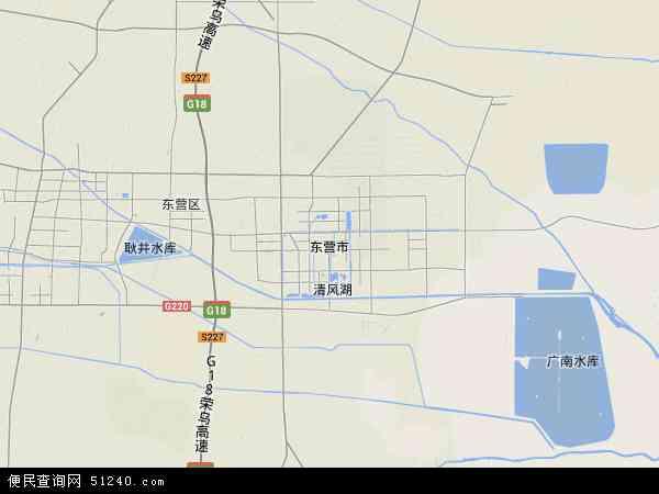中国山东省东营市地图(卫星地图)