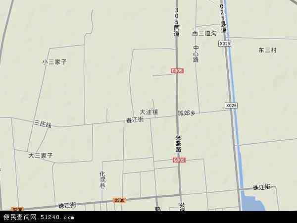 中国辽宁省盘锦市大洼县大洼镇地图(卫星地图)
