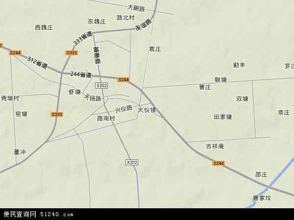中国江苏省扬州市仪征市大仪镇地图(卫星地图)