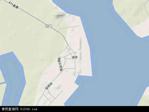 中国广东省湛江市赤坎区调顺地图(卫星地图)