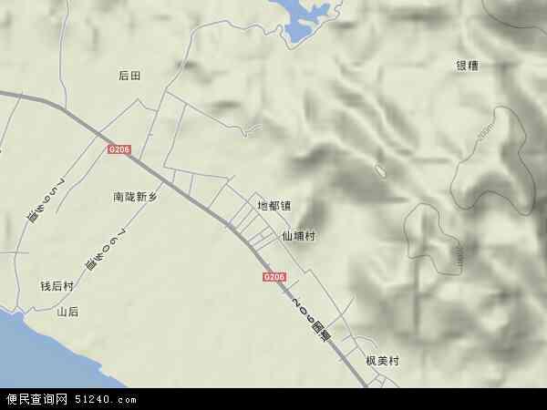 中国广东省揭阳市榕城区地都镇地图(卫星地图)