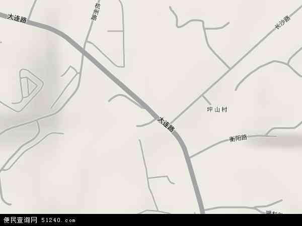 中国贵州省遵义市汇川区大连路地图(卫星地图)