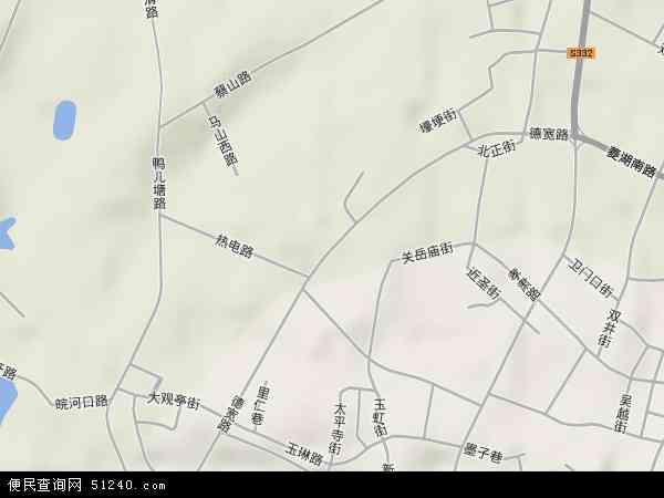 中国安徽省安庆市大观区德宽路地图(卫星地图)