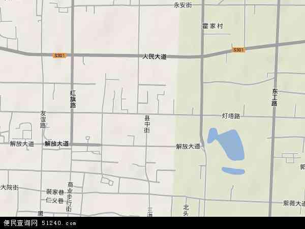 中国河南省安阳市北关区灯塔路地图(卫星地图)