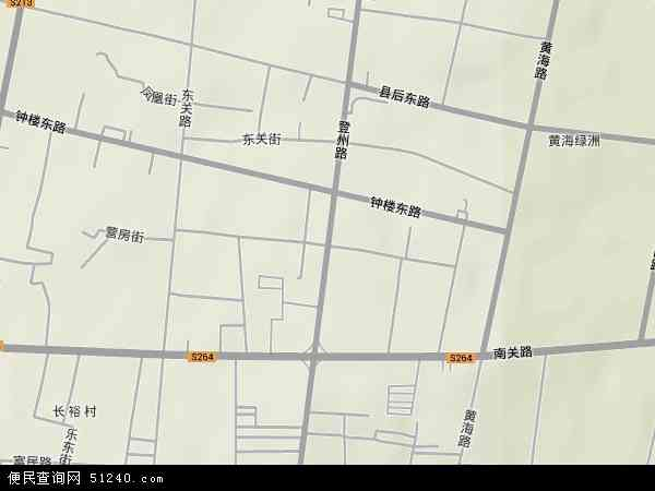 中国山东省烟台市蓬莱市登州地图