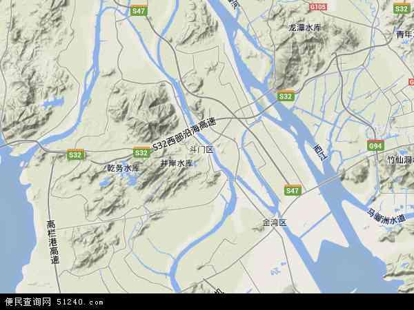 斗门区地图 斗门区卫星地图 斗门区高清航拍地图 斗门区高清卫星地图