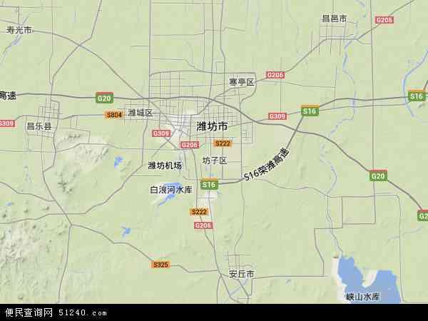 坊子区地图 - 坊子区卫星地图图片