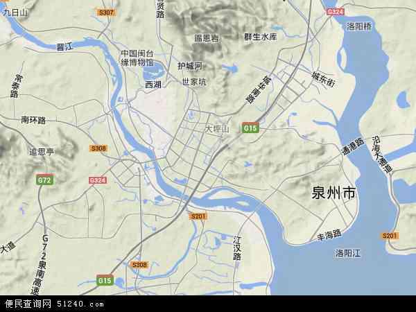 中国福建省泉州市丰泽区地图(卫星地图)