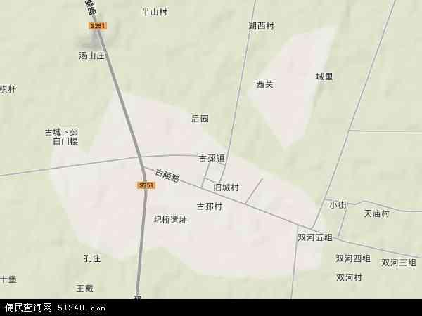 中国江苏省徐州市睢宁县古邳镇地图(卫星地图)