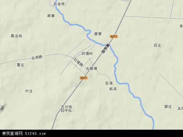 中国湖北省襄阳市襄州区古驿镇地图(卫星地图)
