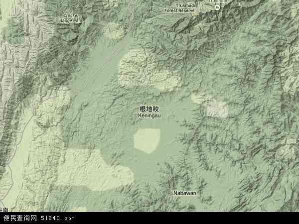 马来西亚沙巴根地咬地图(卫星地图)