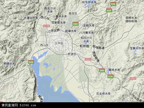 官渡区高清卫星地图 官渡区2017年卫星地图 中国云南省昆明市官渡