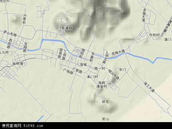 海城地图 - 海城卫星地图