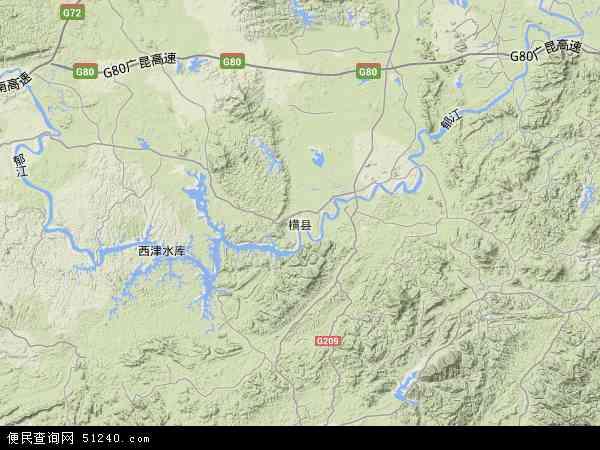 横县地图 - 横县卫星地图