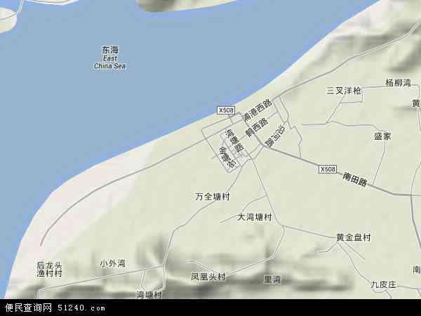 中国浙江省宁波市象山县鹤浦镇地图(卫星地图)