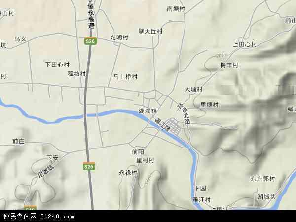 中国浙江省金华市东阳市湖溪镇地图(卫星地图)