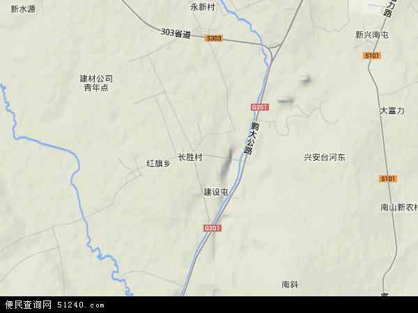 中国黑龙江省鹤岗市兴安区河东路地图(卫星地图)